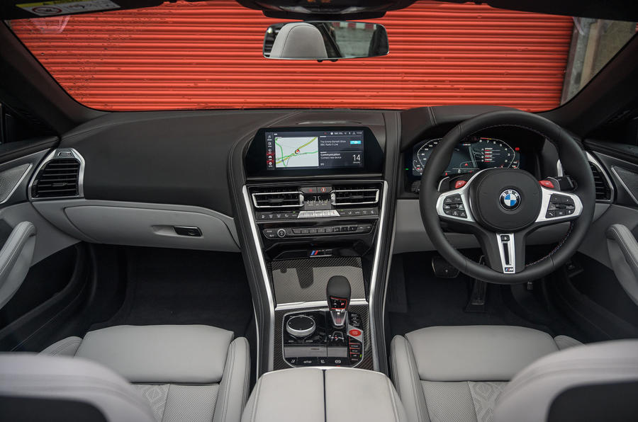BMW M8 Competition convertible 2020 road test review - dashboard