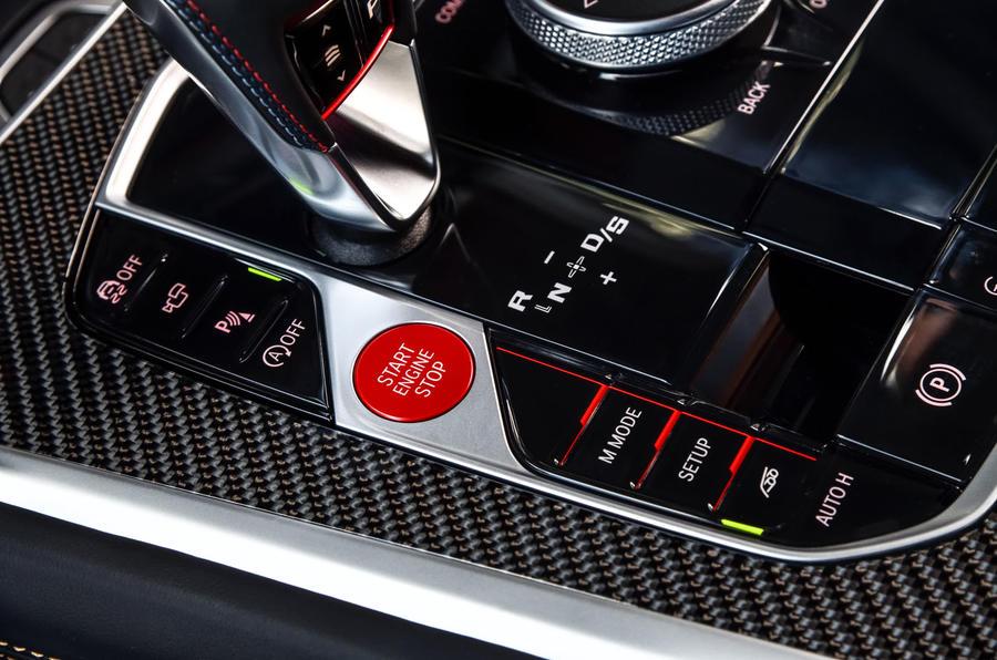 BMW X6 M Competition 2020 road test review - bouton de démarrage