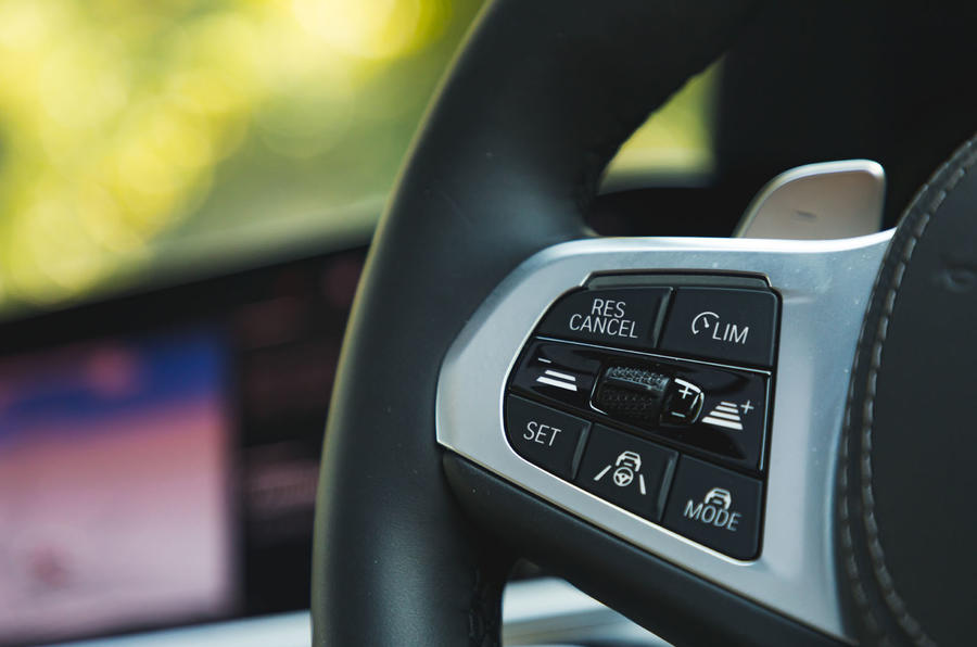 BMW X7 2020 road test review - steering wheel