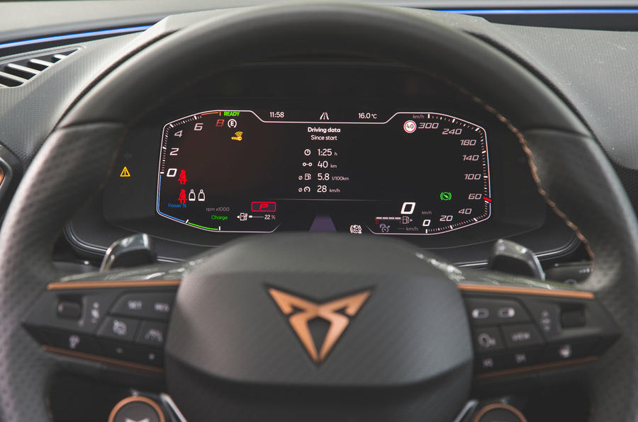 Cupra Leon 2020 road test review - instruments