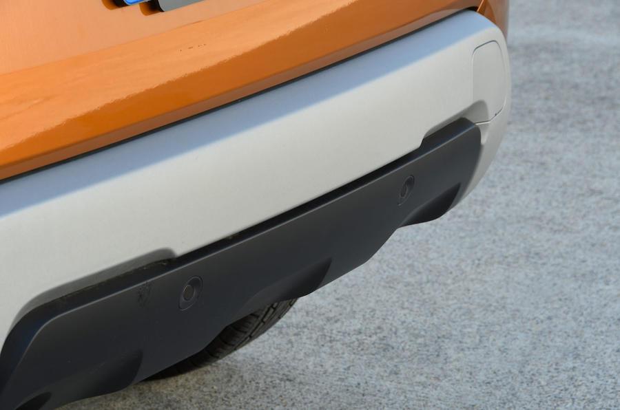 Dacia Duster 2018 road test review rear bumper