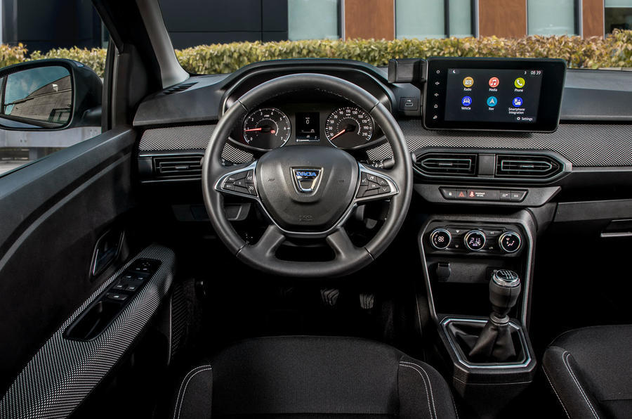 12 dacia sandero tce 90 2021 uk first drive review steering wheel