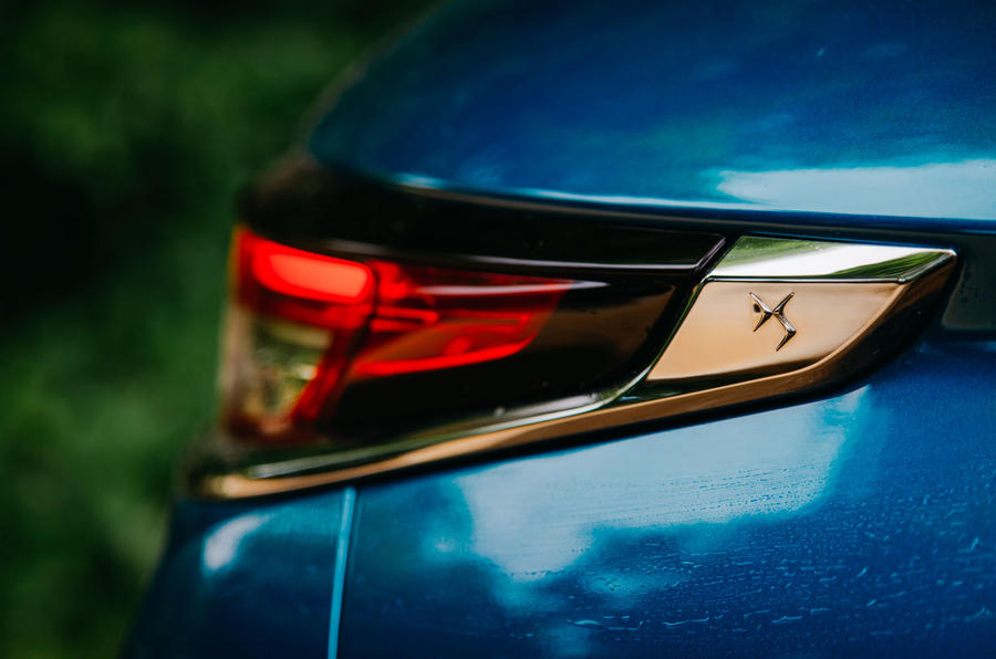 DS 3 Crossback 2019 road test review - rear light details