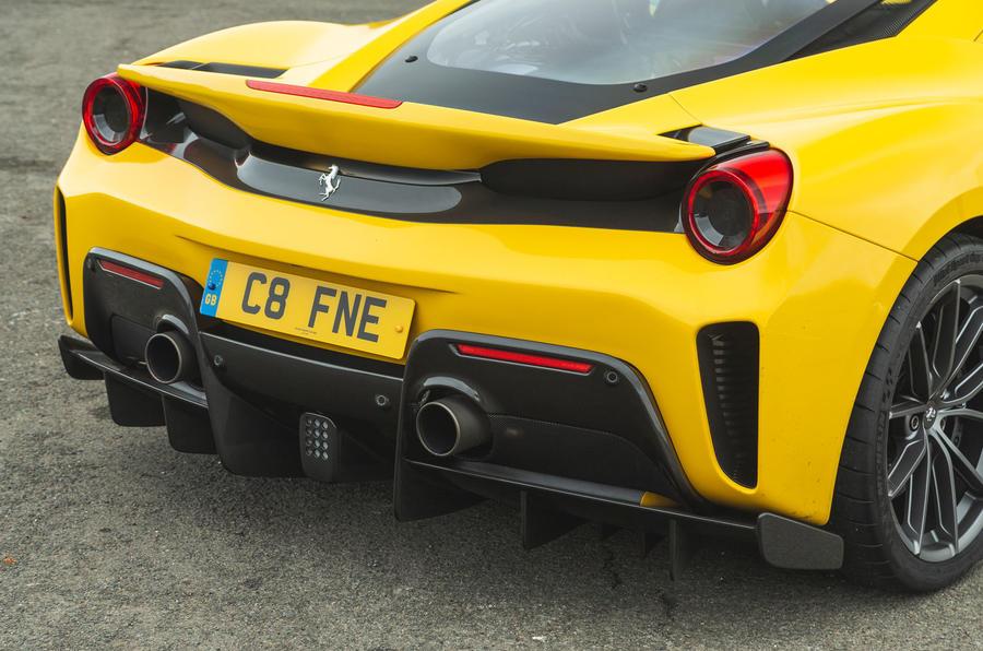 Ferrari 488 Pista 2019 road test review - rear end