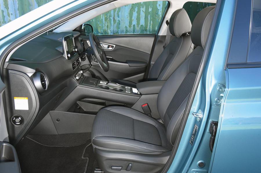 Hyundai Kona Electric 2018 road test review - cabin