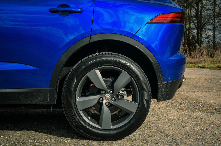 Jaguar E-Pace review rear wheels