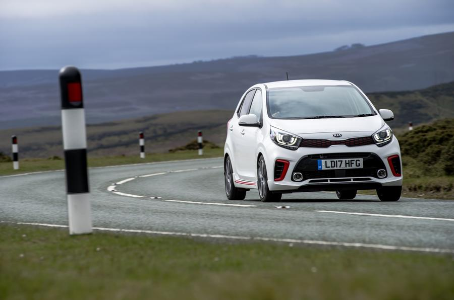 Kia Picanto review cornering front