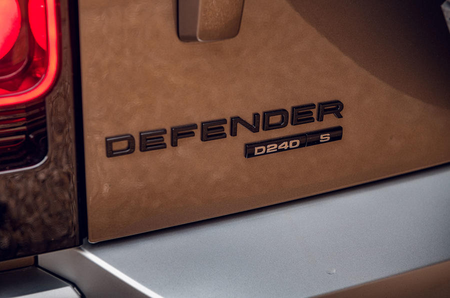 Land Rover Defender 2020 road test review - rear badge