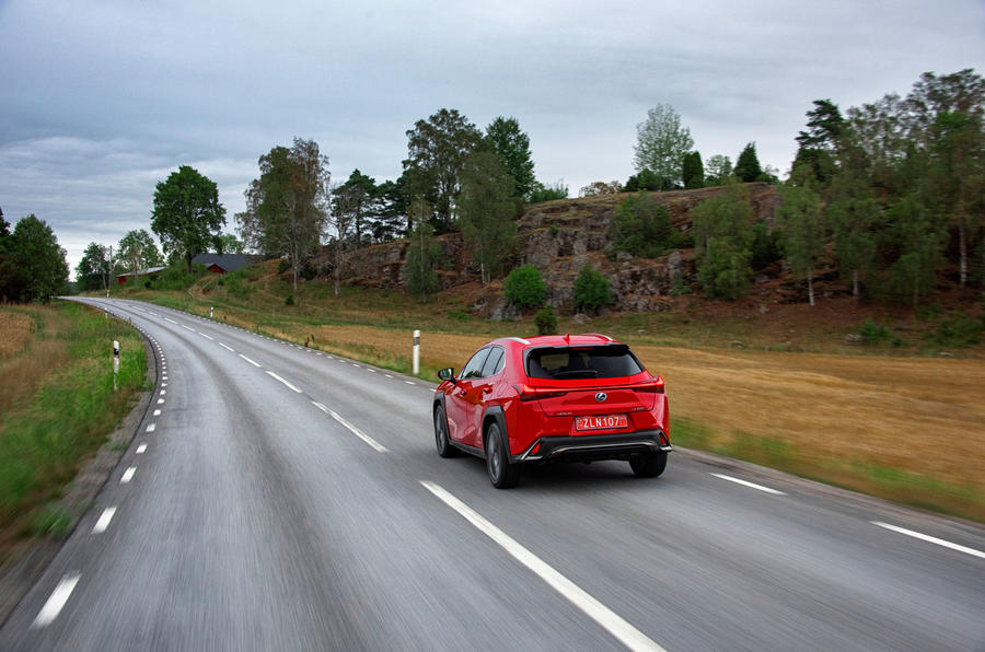 Lexus UX 2018 road test review - on the road rear