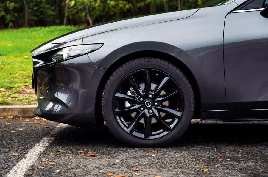 Mazda 3 Skyactiv-X 2019 road test review - alloy wheels