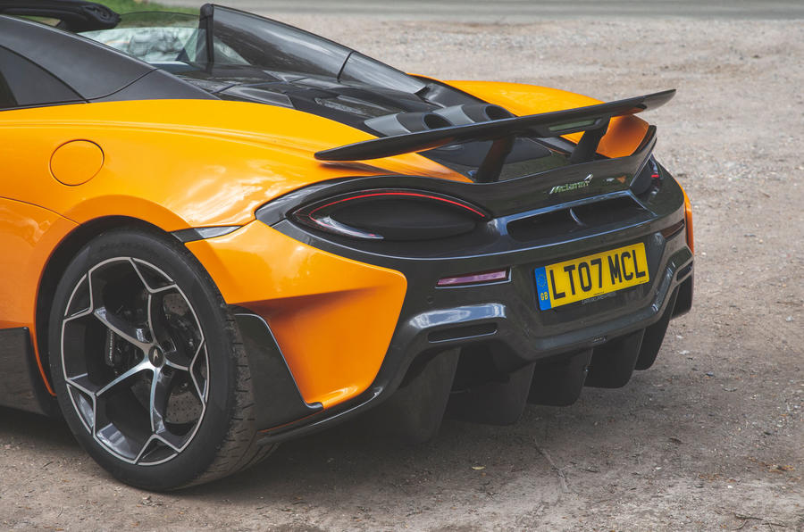 McLaren 600LT Spider 2019 road test review - rear end