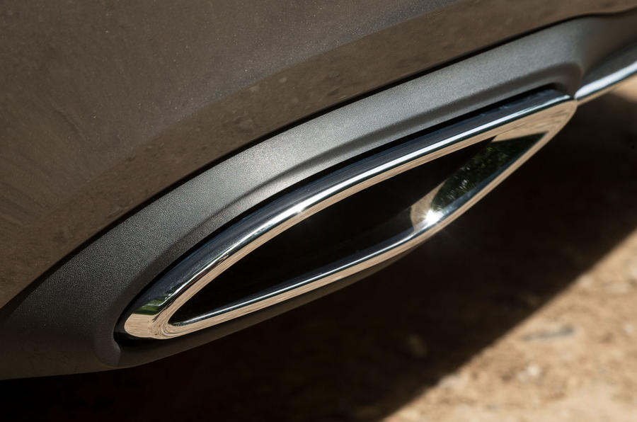 Mercedes-Benz A-Class 2018 road test review exhaust detail