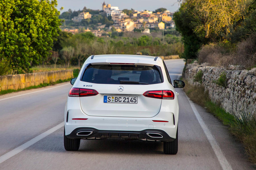 Mercedes-Benz B-Class review - on the road rear