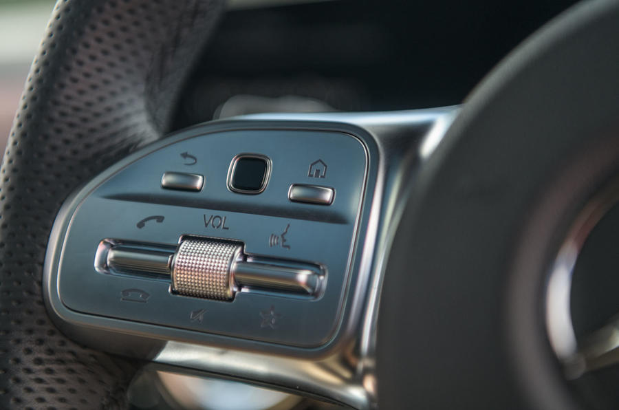 Mercedes-Benz CLA 2019 road test review - steering wheel controls