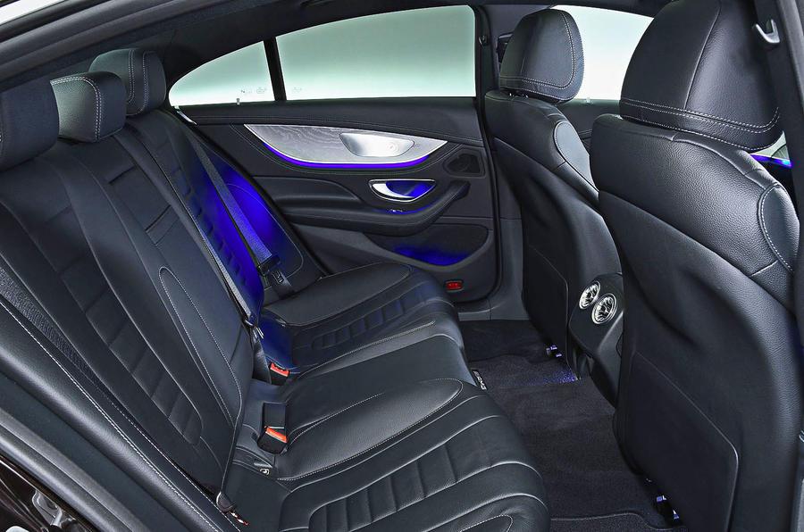 Mercedes-Benz CLS 400d 2018 review rear seats
