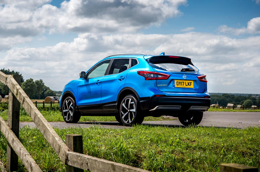 Nissan Qashqai road test review static rear
