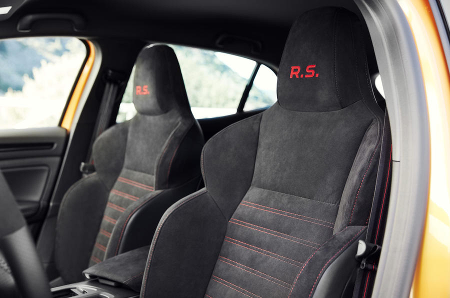 Renault Megane RS 280 2018 road test review front seats