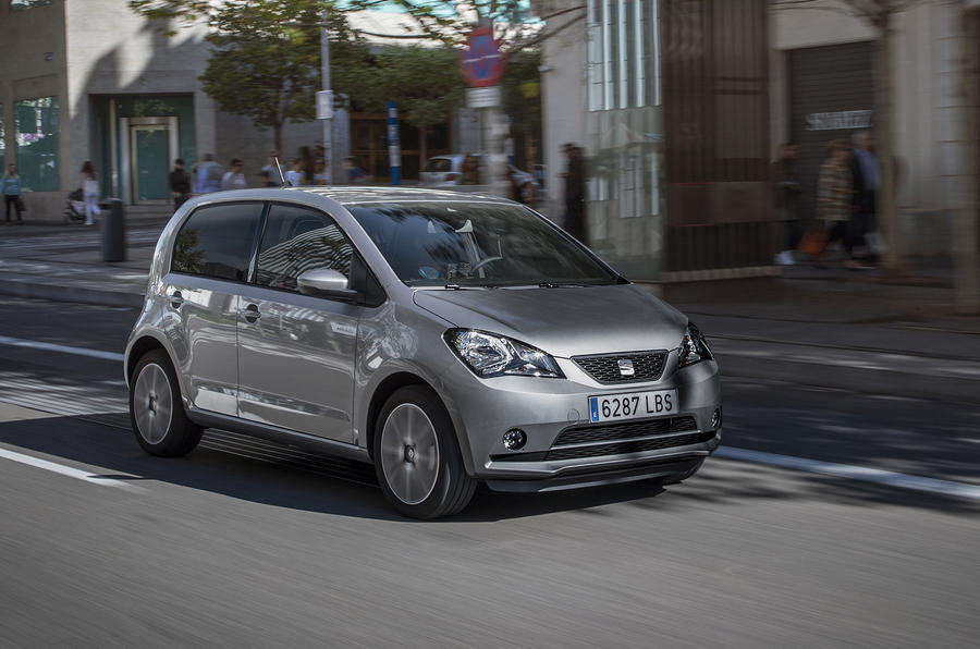 Seat Mii Electric 2020 road test review - on the road front
