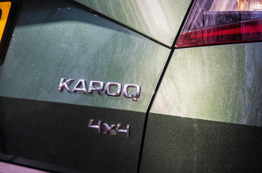 Skoda Karoq Scout 2019 road test review - rear badges