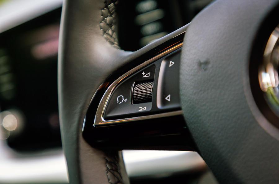 Skoda Scala 2019 road test review - steering wheel controls