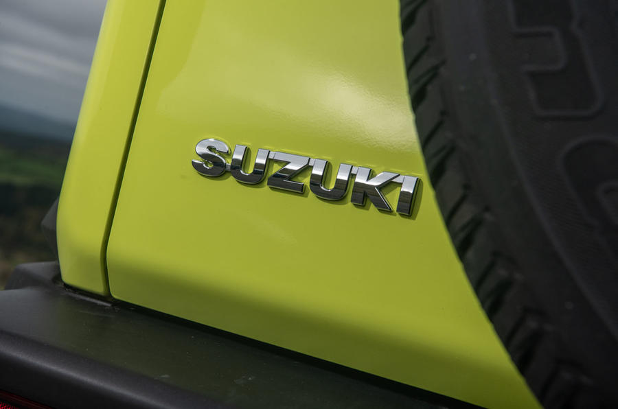 Suzuki Jimny 2018 road test review - rear brand badge