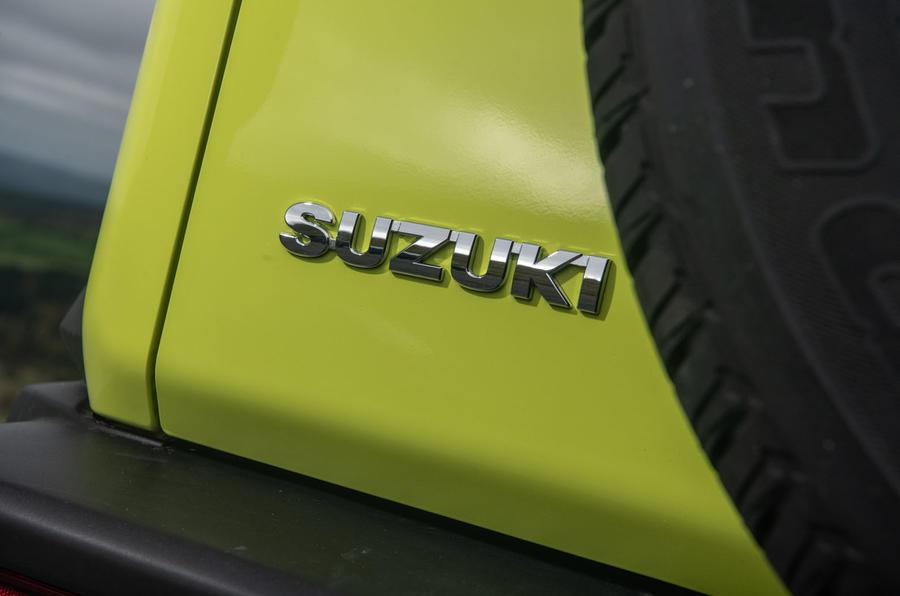 Suzuki Jimny 2018 road test review - rear brand badge