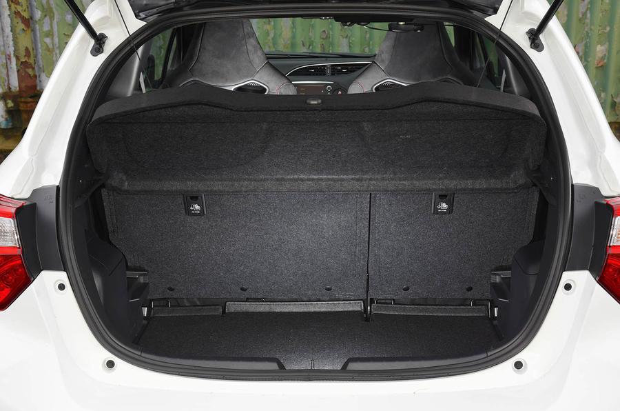 Toyota Yaris GRMN boot seats up