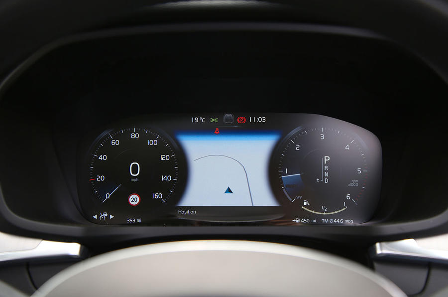Volvo V60 2018 road test review instrument cluster