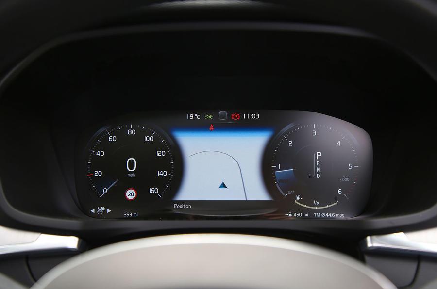 Volvo V60 2018 road test review instrument cluster