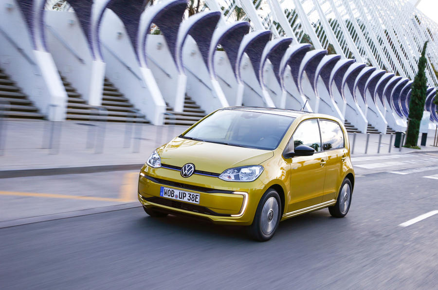 Volkswagen e-Up 2020 road test review - on the road front