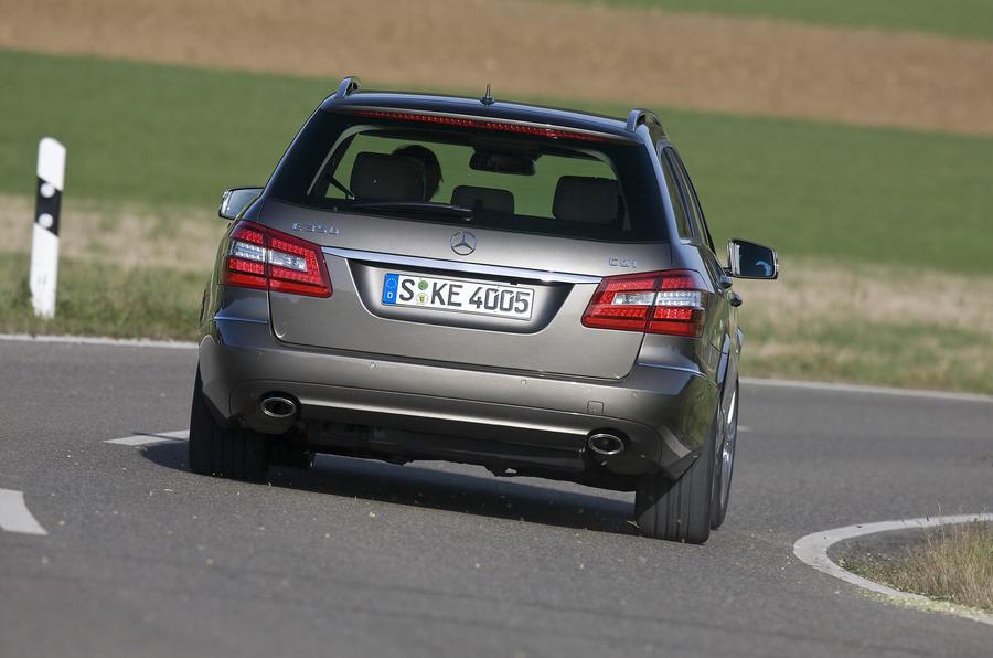 Mercedes-Benz E250 CDI Estate hard rear cornering