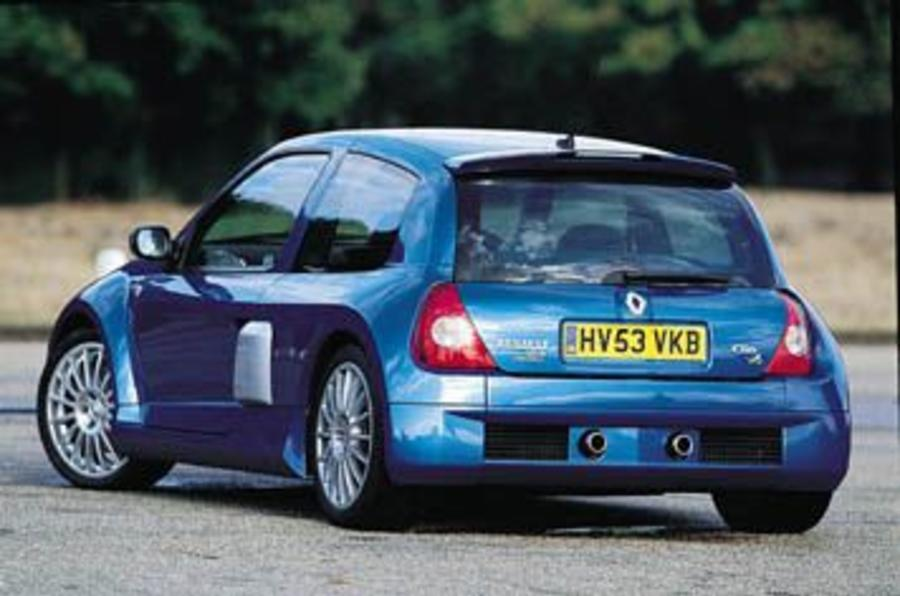 renault clio renaultsport v6 review autocar. Black Bedroom Furniture Sets. Home Design Ideas