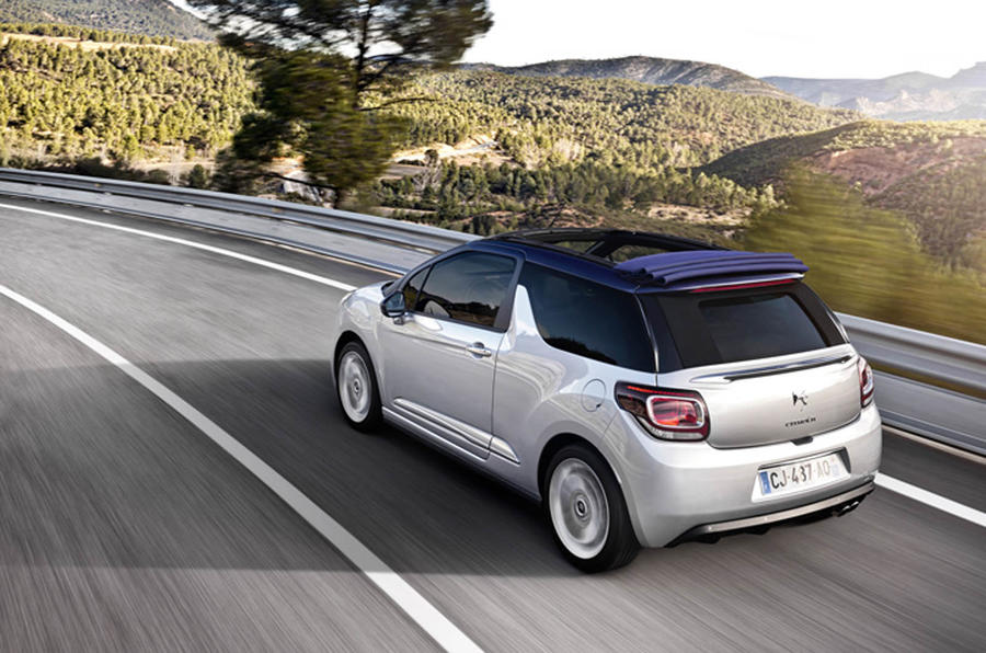 first drive review citro n ds3 cabrio 1 6 thp 155 dsport review autocar. Black Bedroom Furniture Sets. Home Design Ideas