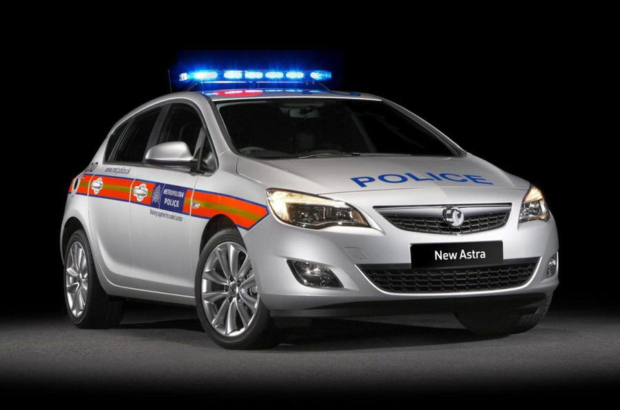 Vauxhall reveals Astra police car