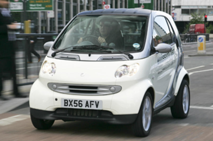 Smart Fortwo ED cornering