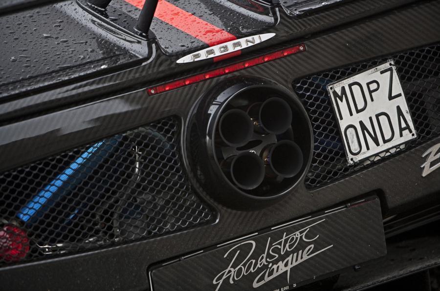 Pagani Zonda Cinque Roadster quad-exhaust