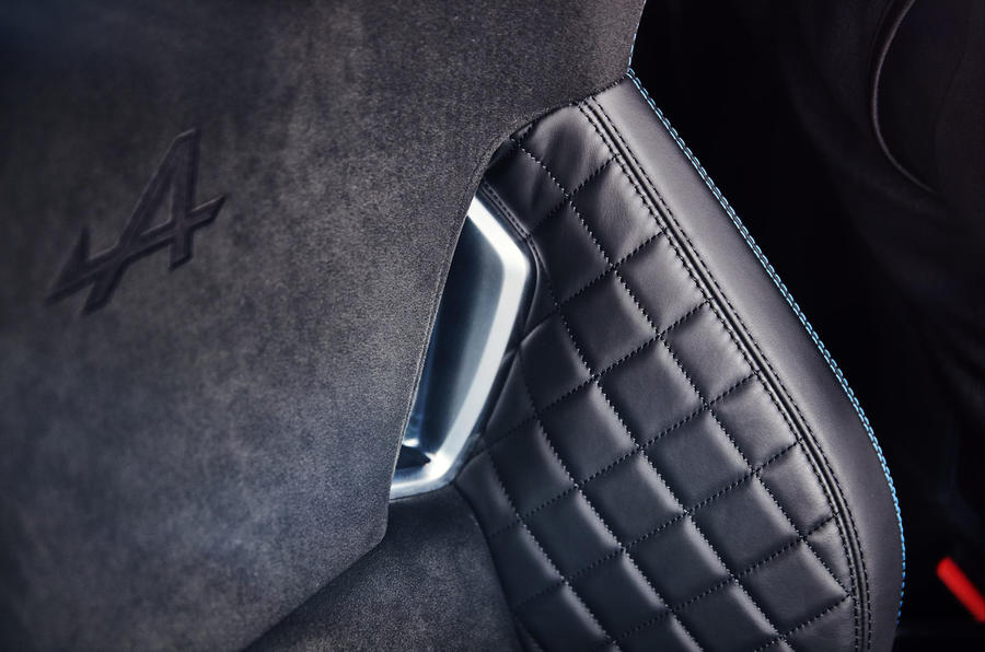 Alpine A110 2018 road test review seats stitching
