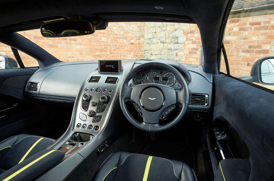 Aston Martin Rapide AMR 2019 first drive review - steering wheel