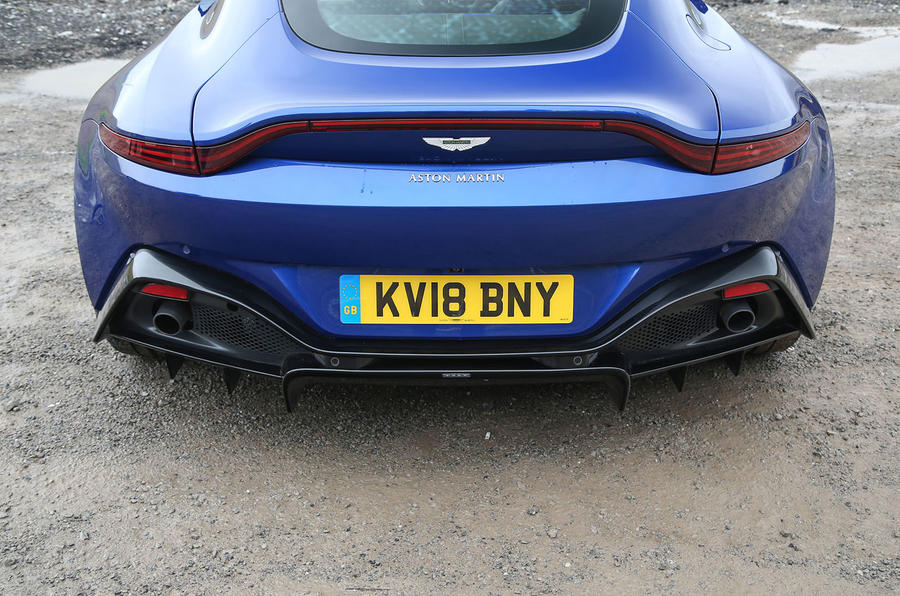 Aston Martin Vantage 2018 review rear bumper