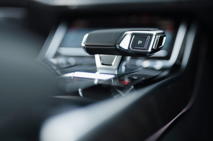 Audi A8 60 TFSIe 2020 road test review - gear lever