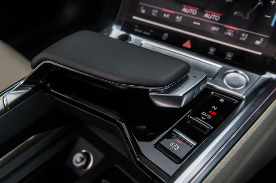 Audi E-tron 55 Quattro 2019 road test review - gear selector
