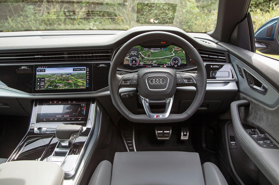 Audi Q8 50 TDI Quattro S Line 2018 road test review - dashboard