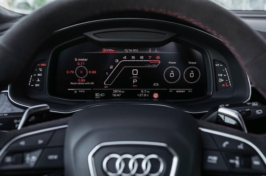 Audi RS Q8 2020 road test review - instruments
