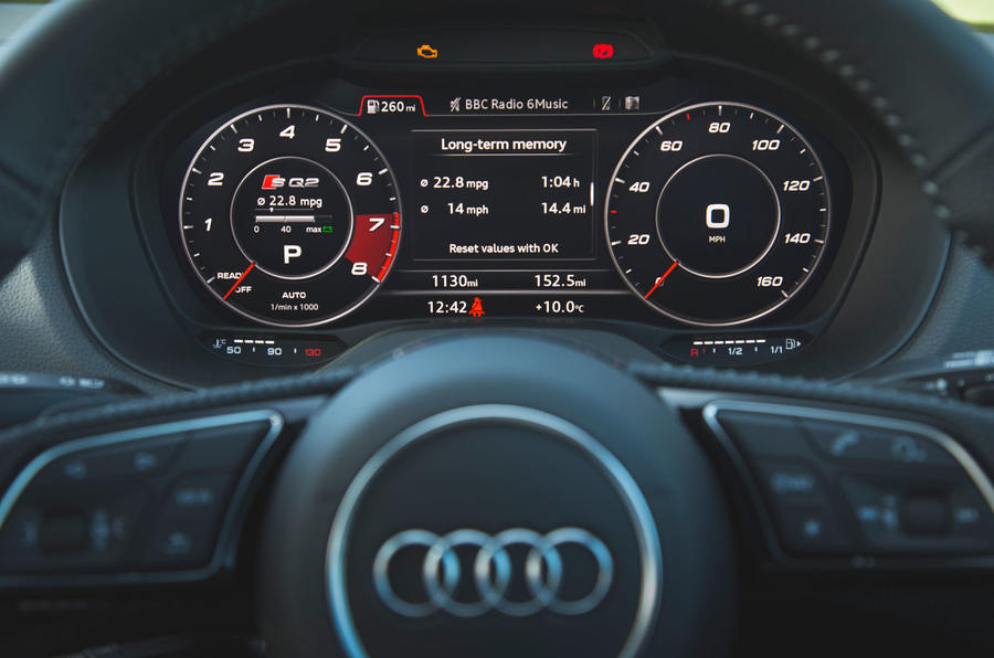 Audi SQ2 2019 road test review - digital cluster