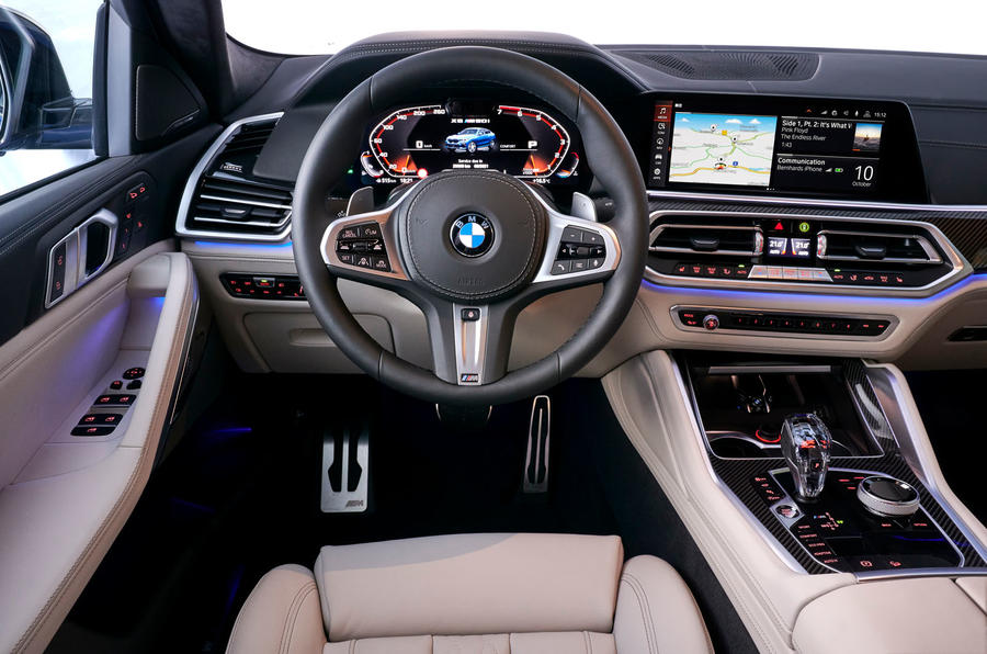 BMW X6 M50i 2019 road test review - dashboard