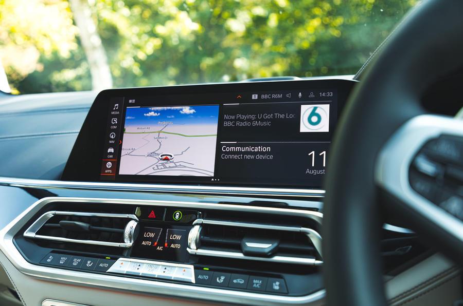 BMW X7 2020 : examen de l'essai routier - infotainment