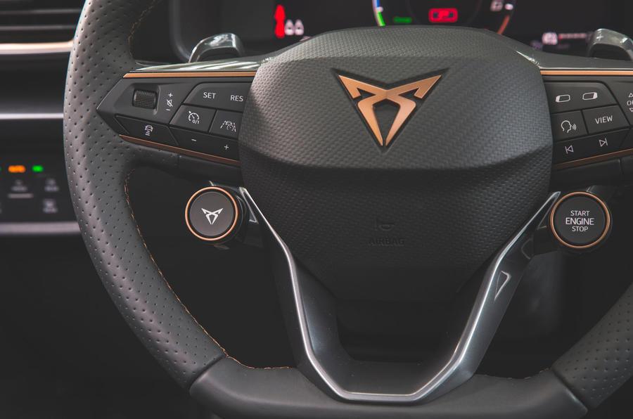 Cupra Leon 2020 road test review - steering wheel