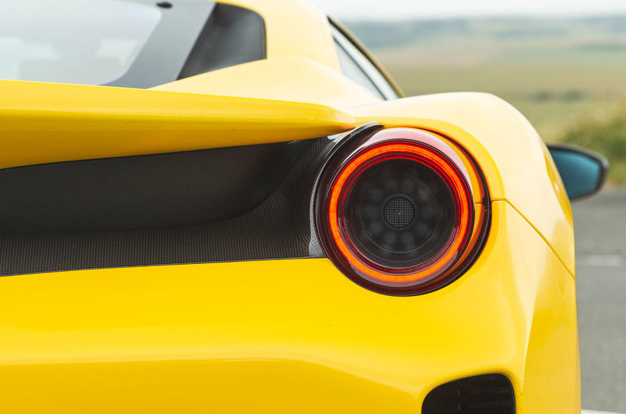 Ferrari 488 Pista 2019 road test review - rear lights