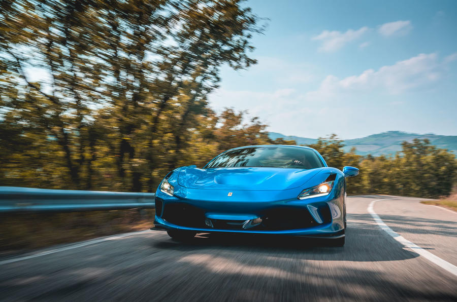Ferrari F8 Tributo 2019 road test review - on the road nose