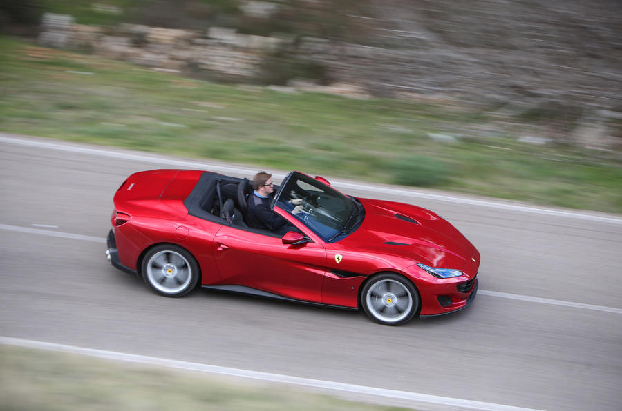 Ferrari Portofino review Matt Saunders driving